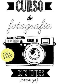 Curso basico gratuito online de fotografía. Acceso a los distintos apartados.