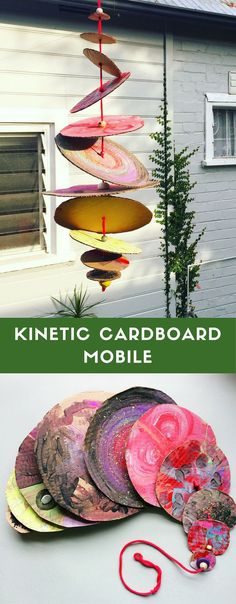 Make a spinning kinetic mobile from recycled cardboard!