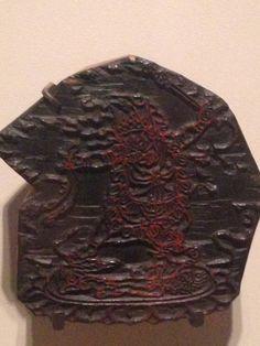 Wood block print of a wrathful Buddha. Rubin Museum of Art, NYC. Photo taken by Samudrasambhava. See the rest at https://www.pinterest.com/Samudrasambhava/