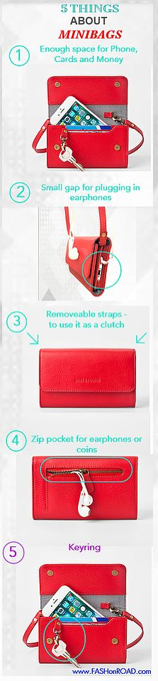 Red Minibag  - perfect for a city trip Rote Mini Bag - perfekt für einen City Trip Shopper, Mini Bag, Pocket, Zip, Personalized Items, Cards, Accessories, Pocket Wallet, Bags