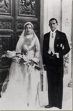 Boda de Doña Mª de las Mercedes y Don Juan de Borbón - 1935