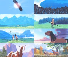 Spirit: Stallion of the Cimarron (Dreamworks Spirit The Horse, Spirit And Rain, Dreamworks Animation, Disney And Dreamworks, Dreamworks Movies, Disney Animation, Cartoon Movies, Disney Movies, Disney Stuff