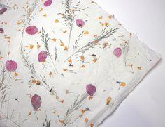 Blüten und Gräser Papier - Bogen 50 x 75 cm