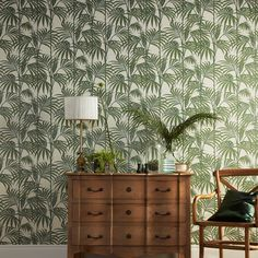 Graham & Brown Julien Macdonald Honolulu Palm green Foliage Glitter effect Embossed Wallpaper - B&Q for all your home and garden supplies and advice on all the latest DIY trends Palm Leaf Wallpaper, 2017 Wallpaper, Tropical Wallpaper, Diy Wallpaper, Glitter Wallpaper, Green Wallpaper, Textured Wallpaper, Designer Wallpaper, Print Wallpaper