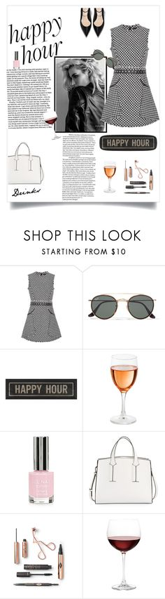 """""""drinks🏹"""" by kelseymousey ❤ liked on Polyvore featuring Alexander Wang, Ray-Ban, The Artwork Factory, Topshop, French Connection and Nordstrom"""