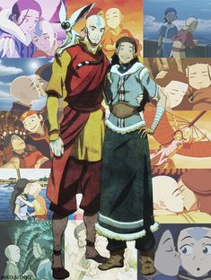 OFFICIAL older Aang and Katara art from Comic-Con. Ladies and gentlemen, this is awesome.