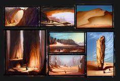 ArtStation - Desert Sketches, Aaron Hofsass