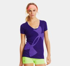 Women's UA Burnout Logo V-Neck | 1256963 | Under Armour US