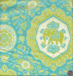 Moda Tradewinds by Lily Ashbury Elephant by quiltsandwich on Etsy, $9.00