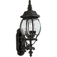 Progress Lighting Onion Lantern 23.25-in H Textured Black Outdoor Wall Light