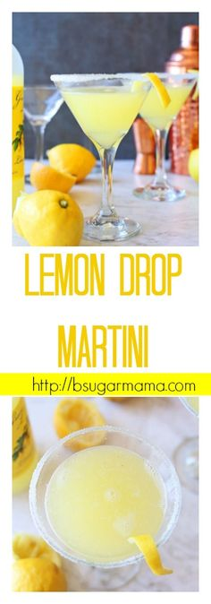 Classic Lemon Drop Martini #cocktails