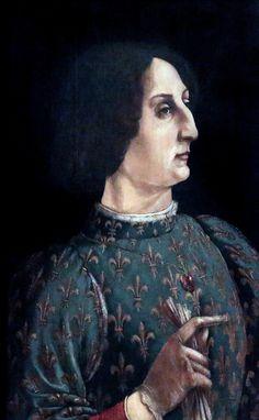Piero del Pollaiolo ( Piero Benci) 1441-1496. Florence. Portrait de Galeazzo Maria Sforza, Duc de Milan. 1471 Florence