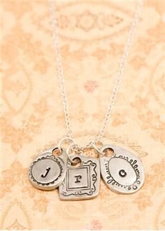 Great stamped jewelry designs.
