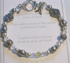 Parkinson's Awareness Bracelet, Parkinson Awareness Bracelet,son Bracelet, Awareness Bracelet