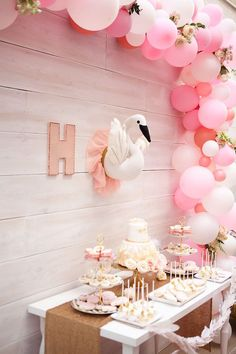 Sweet Swan Birthday Party on Kara's Party Ideas | KarasPartyIdeas.com (40)