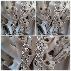 Sterling Silver 925 Earhook in Anchor chain Grandma Gifts, Gifts For Mom, Chain Messages, Anchor Chain, Anchor Pattern, 925 Silver, Sterling Silver, Viking Jewelry, Handmade Jewelry