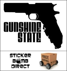 Gunshine State Decal Gun Vinyl Florida Grown Guns Sticker Flogrown 2nd Amendment | eBay