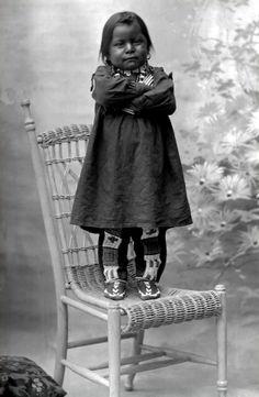 Delightful photograph of Ute boy Capitanito, son of Chief Severo. Photographed 1894.