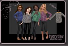 Xmisakix sims: Wool Sweater • Sims 4 Downloads