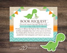 Instant Download Dinosaur Book Request for Boy by Studio20Designs