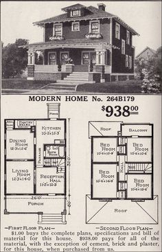 Here it is- the plan. The Plan, How To Plan, Craftsman Style Homes, Craftsman Bungalows, Craftsman Houses, Modern Craftsman, Sears Catalog Homes, Flat Pack Homes, Four Square Homes