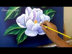 How to paint a picture of flowers / magnolias / with acrylic paint - therezepte sites Acrylic Painting Techniques, Painting Videos, Painting Activities, Cute Animal Drawings, Magnolia Flower, Gouache Painting, Flower Pictures, Art Lessons, Flower Art