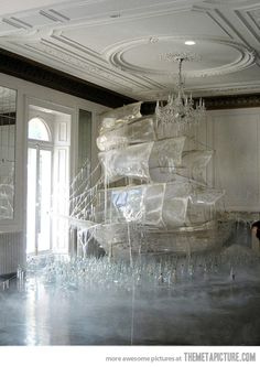 Ice ship sculpture created set designer and art director Rhea Thierstein / Shot by Tim Walker Snow Sculptures, Art Sculpture, Sculpture Images, Metal Sculptures, Abstract Sculpture, Tim Walker Photography, Art Photography, People Photography, Instalation Art
