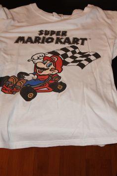 Three quarter sleeve Super Mario shirt   - $12.00 FREE SHIPPING