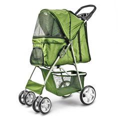 Flexzion Pet Stroller Green Dog Cat Small Animals Carrier Cage 4 Wheels... #Flexzion