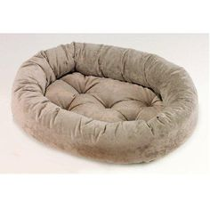 Bowsers Microvelvet Donut Dog Bed Granite Large 42in x 32in *** Click image to review more details.