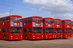 LT Aldenham Works DMS x5 4.73 | Flickr - Photo Sharing! London Transport, Mode Of Transport, Routemaster, Double Decker Bus, Bus Coach, London Bus, Busses, Coaches, Great Britain