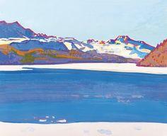 "Walter Ropele, ""Snowtime near Silvaplana"""