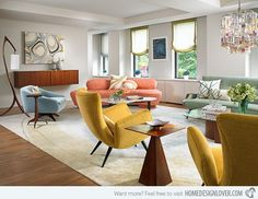 15 Fab Mid-century Modern Living Rooms - Living room and Decorating