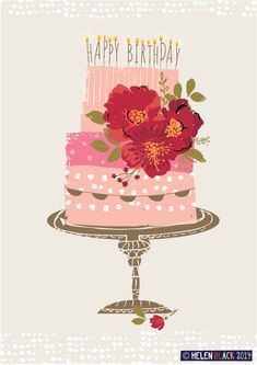 Are you looking for ideas for happy birthday?Browse around this site for perfect happy birthday inspiration.May the this special day bring you happiness. Happy Birthday Art, Happy Birthday Wishes Cards, Happy Birthday Images, Birthday Love, Birthday Messages, Birthday Pictures, Happy Birthday Vintage, Cupcake Birthday, Birthday Cake Illustration