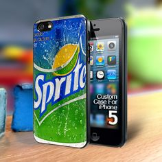 sprite Iphone 5 case | TheYudiCase - Accessories on ArtFire