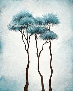 Blue Aqua Wall Art for Home or Office 8 x 10 door NaturesHeavenlyArt