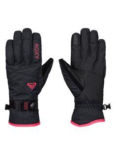 roxy, ROXY Jetty Solid Snow Gloves, TRUE BLACK (kvj0)