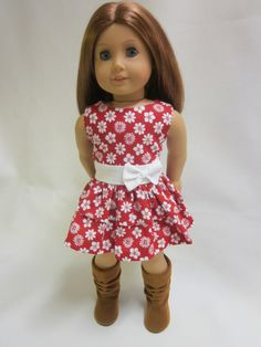 18 inch American Girl Doll Clothes  Apron  Skirt by IndustriousDog, $12.00