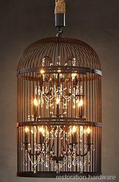 Restoration Hardware Birdcage Chandelier the Thrifty Way!
