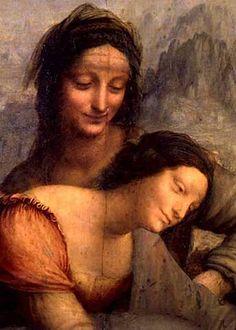 Leonardo da Vinci - The Virgin and Child with St. Anne, detail of the Virgin and St. Anne, c.1510 - jetzt bestellen auf kunst-fuer-alle.de