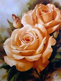 Unknown Artist igor levashov orange roses painting, oil on canvas & frame; Unknown Artist igor levashov orange roses is shipped worldwide, 60 days money back guarantee. Arte Floral, Deco Floral, Rose Orange, Yellow Roses, Beautiful Roses, Beautiful Flowers, Pretty Roses, Orange Rosen, Tea Roses