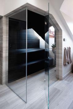 Mieszkanie w centrum Sztokholmu - Codziennie Szczypta Designu Sauna Steam Room, Sauna Room, Jacuzzi, Modern Saunas, Finnish Sauna, Spa Rooms, Steam Showers Bathroom, Home Spa, House Goals