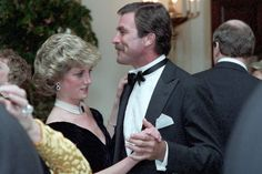 Princess Diana dancing with Tom Selleck