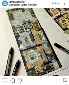 24 Ideas Drawing Architecture Plan Hand For 2019 Architecture Sketchbook, Architecture Plan, Landscape Architecture, Landscape Design, Interior Architecture Drawing, Interior Design Renderings, Interior Rendering, Interior Sketch, The Plan