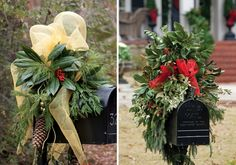 How to decorate a mailbox for Christmas! -Victoria magazine