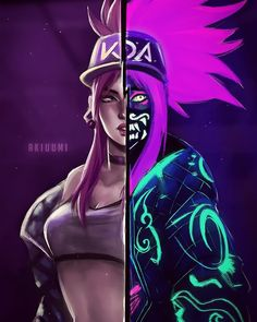 Akali - KDA - League of legends Lol League Of Legends, Akali League Of Legends, Fan Art, Akali Lol, Character Art, Character Design, Female Characters, Fictional Characters, Cyberpunk