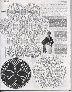 "Photo from album ""Костюм для Афродиты от Oscar de la Renta. Crochet on Yandex. Crochet Squares, Crochet Round, Crochet Granny, Crochet Diagram, Crochet Chart, Crochet Motif, Crochet Doilies, Crochet Skirts, Crochet Clothes"