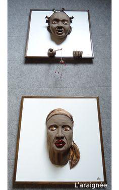 L' araigne - sculpture on wooden panel  Vio by Infantellina Contemporary Berlin  https://plus.google.com/108250584322375976380/posts    http://www.infantellina-contemporary.com    https://www.facebook.com/pages/Infantellina-Contemporary-Berlin/101999740292?ref=ts=ts