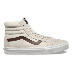 7961c0c09263f3 Vans Shoes - Sk8-HI Reissue Leather - Blanc De Blanc - Surf and Dirt