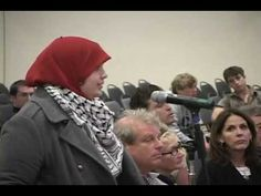 Speaker David Horowitz during the Q & A portion of a lecture he gave at UC San diego was confronted by a Muslim student form the crowd. In her opening the student mentions the annual Hitler Youth Youth Week where they parade around campus in Muslim garb with a God Bless Hitler sign.